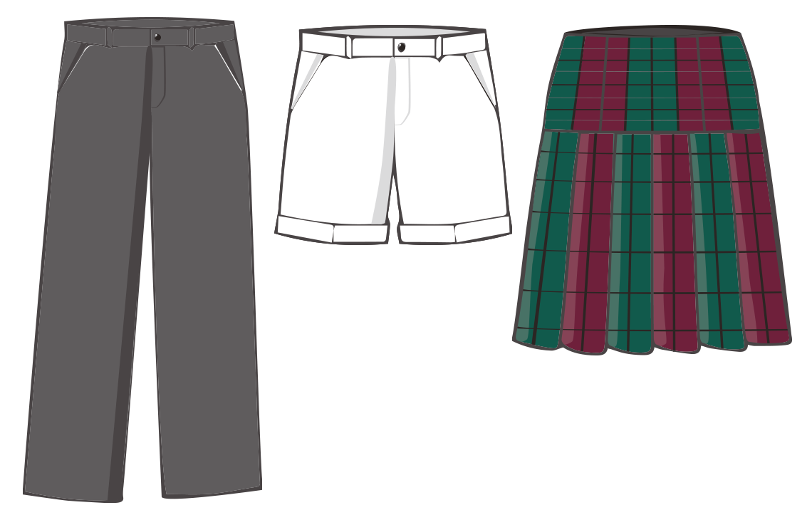 SJS Trousers, shorts & skirt graphic