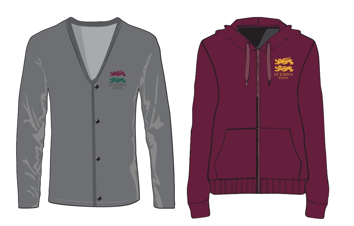 Cardigan & hoodie